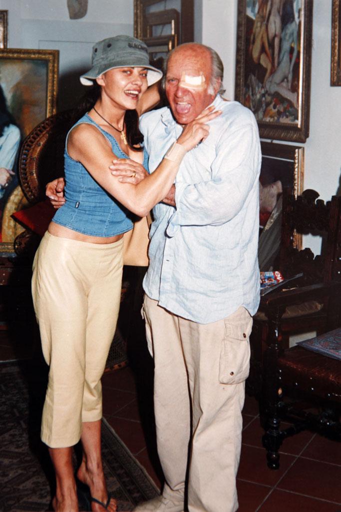 con Eva Grimaldi