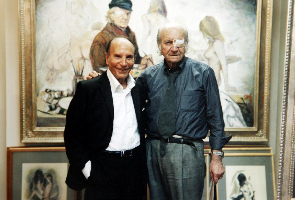 con Enzo Mirigliani in studio