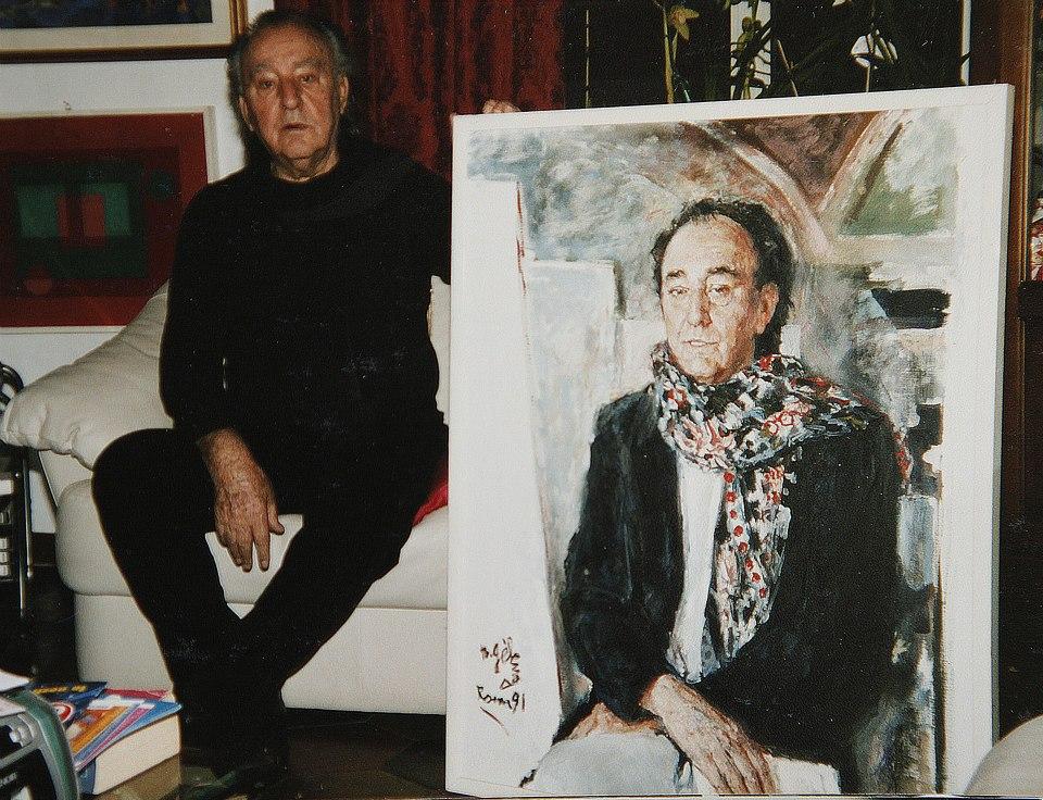 Costanzo Costantini con ritratto