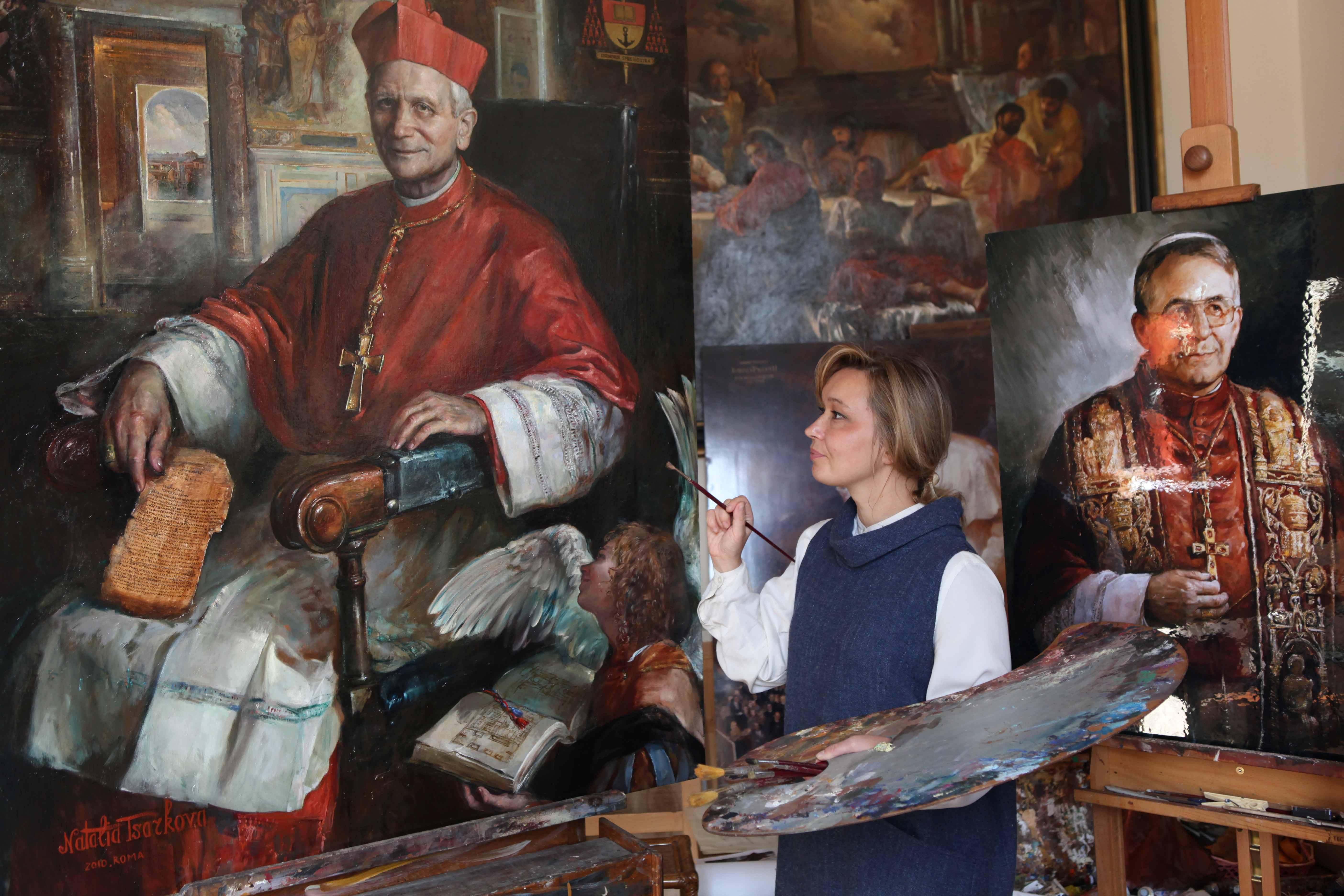 ritocchi al ritratto del Cardinale Raffaele Farina Bibliotecario e Archivista di Santa Romana Chiesa
