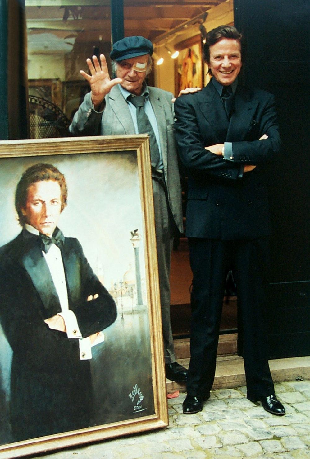 Rinaldo Geleng e Silvan con ritratto